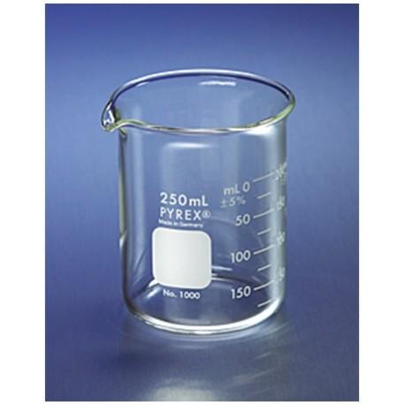 Pyrex Becker - 250ml - Forma Baixa - Griffin - Embalagem c/48 pçs - Laborglas