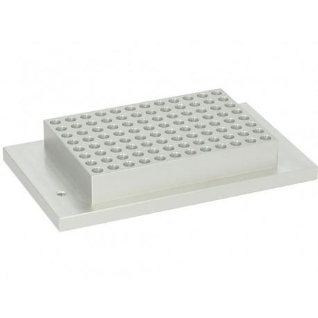 Bloco para thermobloco 1 x 96PCR poços p/banho duplo