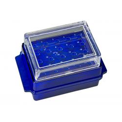 Rack Cooler (Azul) - c/Tampa - 20ºC - p/3 horas - p/tubos 0,5/1,5/2.0 ml - SSIbio
