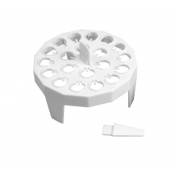 Rack em plastico p/banho ou gelo redondo 20x1,5ml