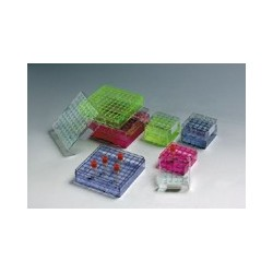 Rack em policarbonato p/ criogenia 25 Posições coloridos