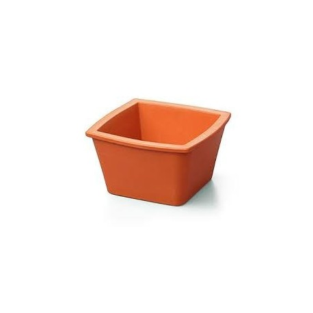 Balde de gelo Corning Mini sem tampa, quadrado 1L laranja