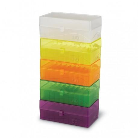 Rack em PP 50 posições 1.5/2.0ml coloridos