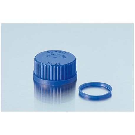 Tampa de rosca em PP azul Schott GL32
