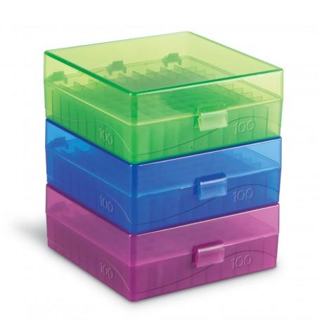 Rack em Polipropileno 100 posições 1.5/2.0 ml (-70º) - Coloridos - Embalagem c/01 pç -Heathrow