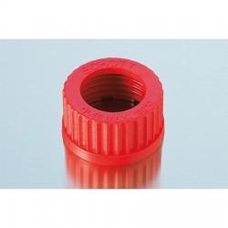Tampa de rosca em PP c/furo,vermelha GL45 Schott