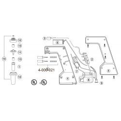 Botão para válvula Pipet-Aid portátil - Drummond - Embalagem c/ 02 pçs