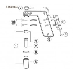 Conector manual para Pipet Aid não portatil