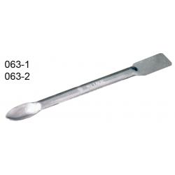 Espátula dupla com colher de chapa de aço inox 3mm 18cm
