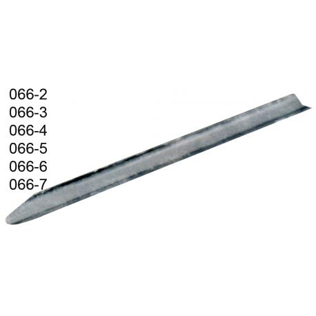 Espatula canaleta de chapa de aco inox 10 cm