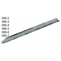 Espatula canaleta de chapa de aco inox 20 cm