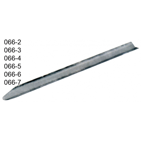 Espatula canaleta de chapa de aco inox 12 cm