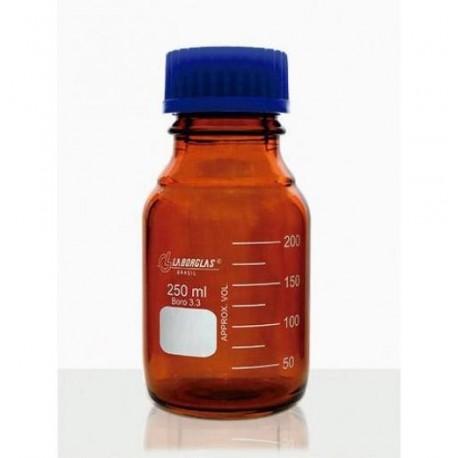 Frasco reagente graduado disp. anti-gota ambar 1000ml