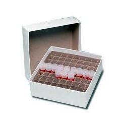 Caixa de Papelão 14,5 x 14,5 x 4,5 cm p/100 tubos de 1.5 ml e 2.0 ml - Embalagem c/05 pçs
