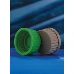 Tampa de rosca Verde em Polipropileno 140º sem furo - GL45 - Laborglas