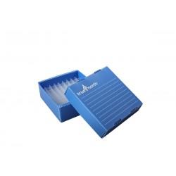 Rack em Polipropileno - Corrugado - 81 posições - p/ freezers -80ºC - 1.5/2.0 ml - Azul - Heathrow