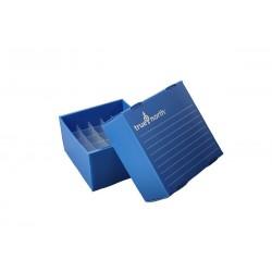 Rack em PP corrugado 25 posições 5ml azul