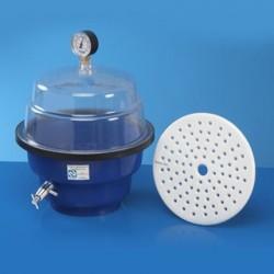 Dessecador em PP/PS 250mm com Vacuômetro