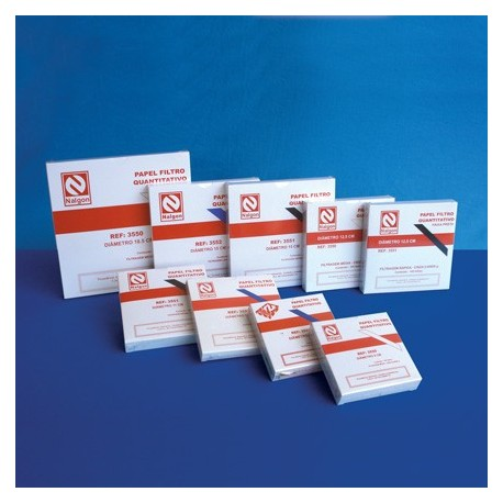 Papel Filtro quantitativo Diam. 24cm - Embalagem c/100 fls - Nalgon