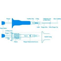 Kit para microdispenser Dialamatic e Desl.Positivo 20-100ul