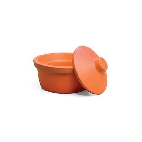 Recipiente redondo para gelo 2.5L laranja