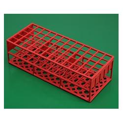 Rack tipo grade - 60 posições - em Polipropileno 16 mm - Embalagem c/01 pç - vermelho