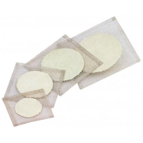 Tela de arame galv. c/ disco refratario 16 x 16 cm