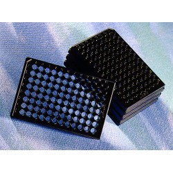 Microplaca Corning 96 poços, R, preta/clear S/TC, s/tpa c100