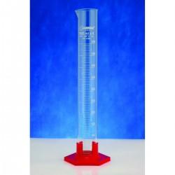 Proveta graduada de vidro e base hexag. poli 100ml