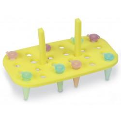 Rack p/banho maria, em espuma especial p/ microtubo.PT/5