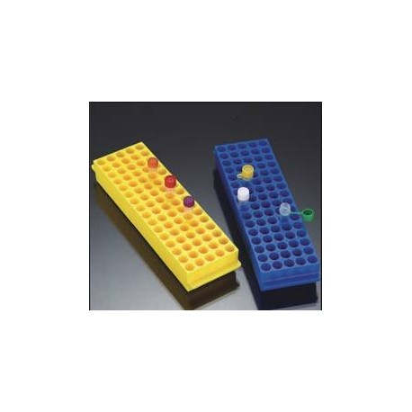 Rack em Polipropileno - 80 posições - 1.5-2.0 ml - coloridos