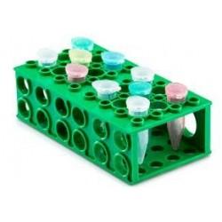 Rack em polipropileno - 4 faces - versátil - formato retangular p/tubos de 0,5 à 50 ml