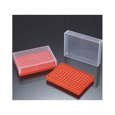 Rack em PP 96 posições p/ PCR 0,2ml - c/tampa separada - Embalagem c/01 pç