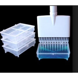 Rack Reservatório p/reagente em PP c/tampa autoclavável cap.175ml