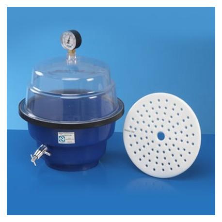 Dessecador em PP/PS 250mm com Vacuômetro c/trava e fecho