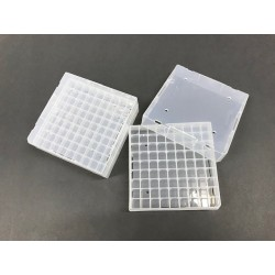 Rack em Polipropileno 81 posições - p/tubos 1.5 /2.0 ml -70°C + 140°C - Embalagem c/01 pç