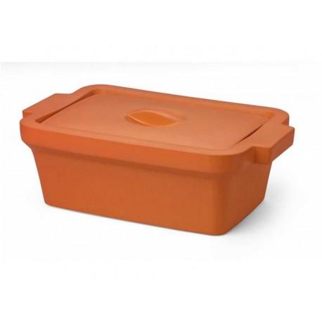 Recipiente com tampa, retangular midi para gelo 4L laranja